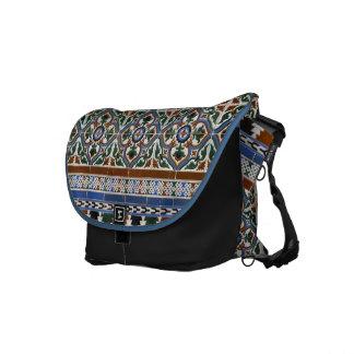 Mediterranean Tile Pattern Rickshaw Messenger Bag