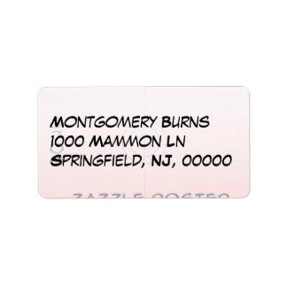 Medium - Address Address Label