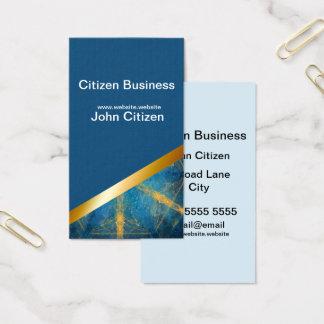 Medium blue and Tribal mandala 11 business card