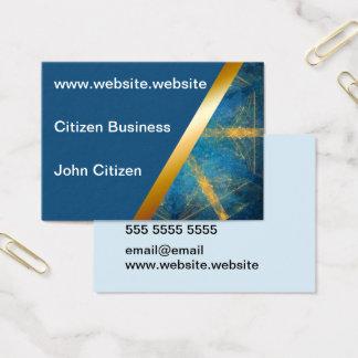 Medium blue and Tribal mandala 1 business card