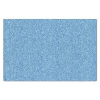 Medium Blue Denim Texture Tissue Paper