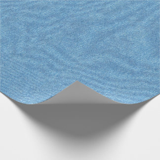 Medium Blue Denim Texture Wrapping Paper