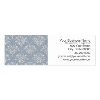 Medium Blue Grey and White Damask Pack Of Skinny Business Cards