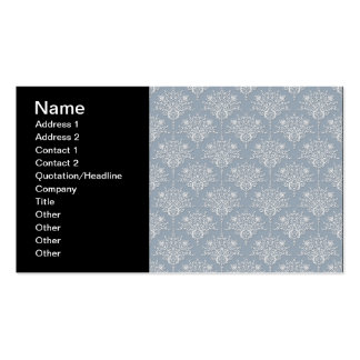 Medium Blue Grey and White Damask Pack Of Standard Business Cards