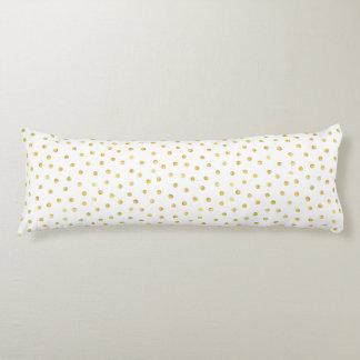 Medium Gold Watercolor Polka Dot Pattern Body Cushion