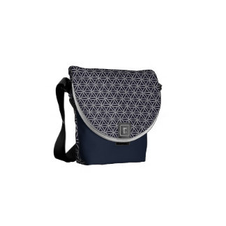 Medium Messenger Bag Circle blue