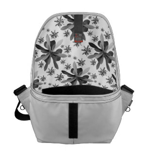 Medium Messenger Bag Inside with Stylized Flower 1