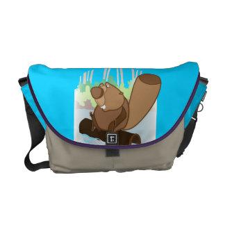 Medium Messenger Bag with beaver