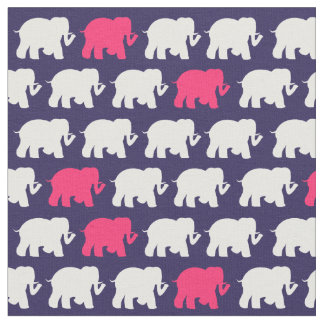 Medium Navy elephants fabric