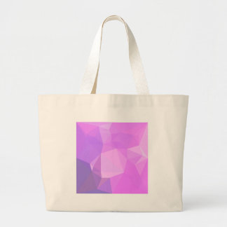 Medium Orchid Abstract Low Polygon Background Large Tote Bag