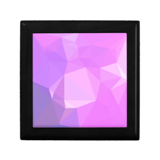 Medium Orchid Abstract Low Polygon Background Small Square Gift Box