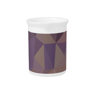 Medium Purple Abstract Low Polygon Background Pitcher