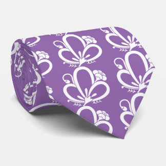 Medium shade plum butterfly tie