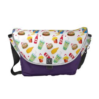 Medium Sized Burgers & Fries Messenger Bag