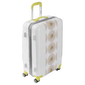 Medium Sized Luggage Suitcase GEOMETRIC CIRCLE FLO