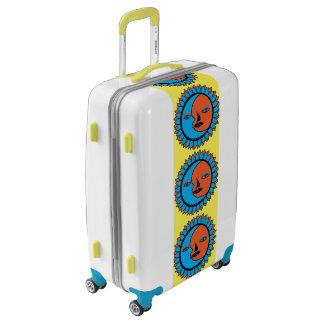 Medium Sized Luggage Suitcase MOON SUN REFLECTION