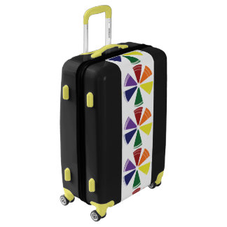 Medium Sized Luggage Suitcase PRIDE COLOR WHEEL