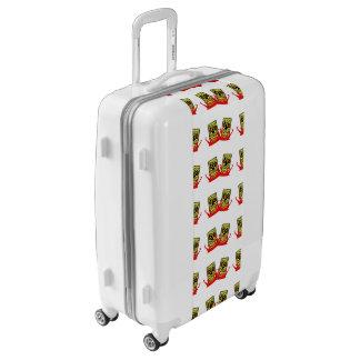 Medium Sized Luggage Suitcase Tiki Buddies