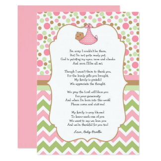 Medium Skin brown eyes Baby Shower Thank You note Card