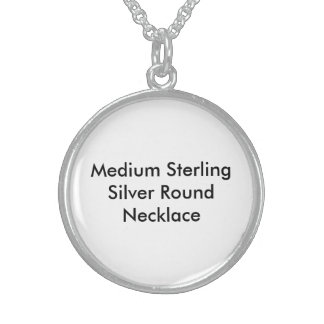 Medium Sterling Silver Round Necklace2 Round Pendant Necklace