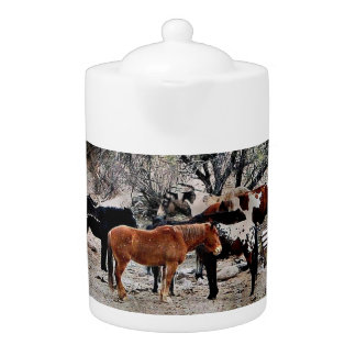 """Medium Teapot """"Wickenburg Horses"""""""