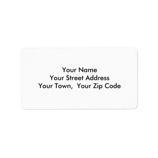 Medium Template Return Address Personalised Labels