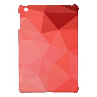 Medium Violet Red Abstract Low Polygon Background iPad Mini Cases