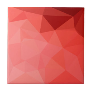 Medium Violet Red Abstract Low Polygon Background Tile