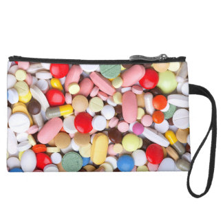 Meds ~ photo print of drugs / medication / pills wristlet purse