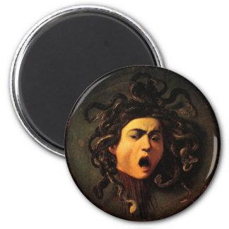 medusa-1 6 cm round magnet