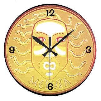 Medusa Coin round wall clock