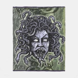 Medusa Gorgon Fleece Blanket