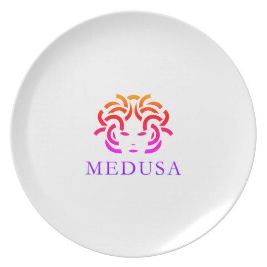 """""""MEDUSA"""" Melamine plate (white)"""
