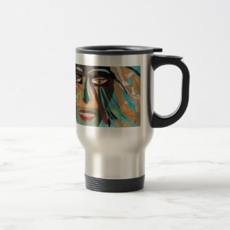Medusa. portrait of a shaman travel mug