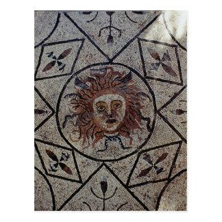 Medusa, Roman mosaic from the House of Orpheus Postcard