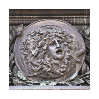 Medusa Shield of Athena Canvas Print