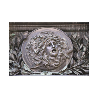 Medusa Shield of Athena Canvas Print