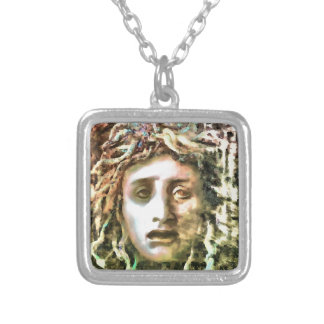Medusa Silver Plated Necklace