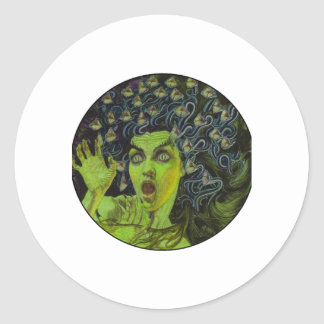 MEDUSA THE WARRIOR CLASSIC ROUND STICKER