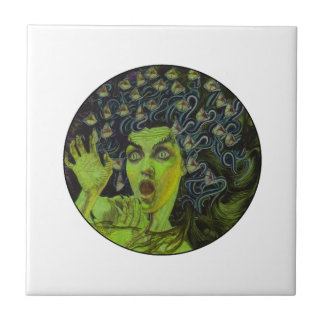 MEDUSA THE WARRIOR SMALL SQUARE TILE