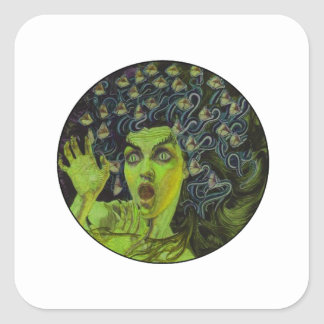 MEDUSA THE WARRIOR SQUARE STICKER