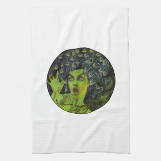 MEDUSA THE WARRIOR TEA TOWEL