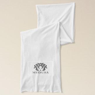 """MEDUSA"" White Jersey Scarf"