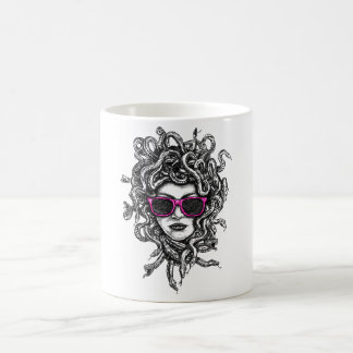 Medusa With Glasses And Snakes In Hair Coffee Mug