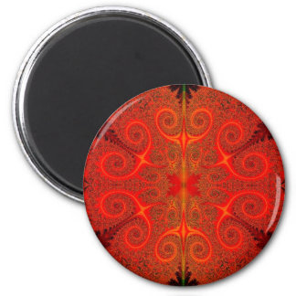 Medusa's Fire 6 Cm Round Magnet