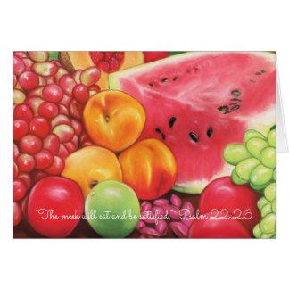 Meek Eat & Be Satisfied~Scripture~ Fruit Pastels Card