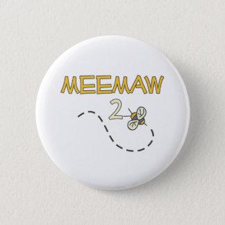 Meemaw 2 Bee 6 Cm Round Badge
