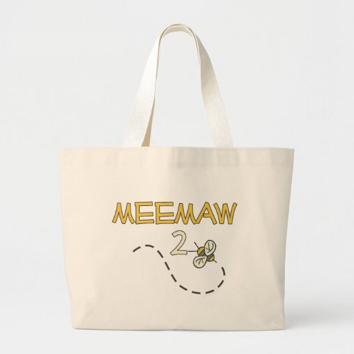 Meemaw 2 Bee Canvas Bags