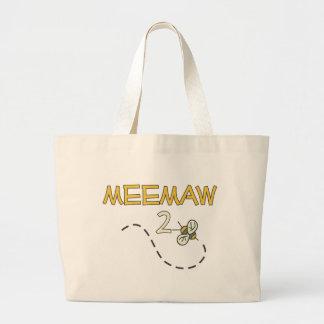 Meemaw 2 Bee Jumbo Tote Bag