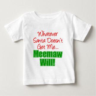 Meemaw Better Than Santa Baby T-Shirt
